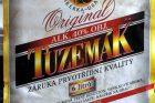 Závadný alkohol - etiketa - Tuzemák (Likérka Drak) - dle výrobce zfalšovaná etiketa