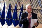 Představitel unijní diplomacie Josep Borrell před schůzkou ministrů  zahraničí zemí Evropské unie.
