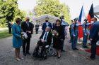 Německý prezident Frank-Walter Steinmeier s první dámou Elke Büdenbenderovou se setkali v Lánech s českým prezidentem Milošem Zemanem a jeho manželkou Ivanou.