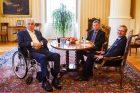 Prezident Miloš Zeman se ve středu setkal s předsedou ODS Petrem Fialou a poslancem Pavlem Blažkem