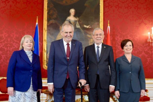 Prezident Miloš Zeman a rakouský prezident Alexander Van der Bellen