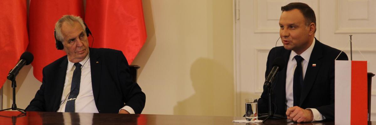 Prezident Miloš Zeman a polský prezident Andrzej Duda