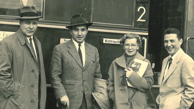 Jedna z mála fotek z 50. let, kdy Knorr ve Vídni pracoval pro americkou vojenskou rozvědku.