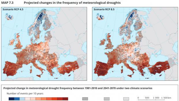 Jak Bude V Evrope Za 50 Let Mapy Ukazuji Prognozy Klimatickych