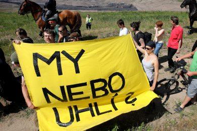 V Severočeských dolech se zastavila těžba, vedení sčítá škodu po demonstrantech