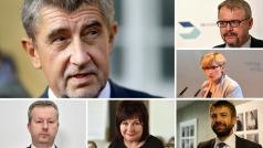 Premiér Andrej Babiš z ANO a čtrnáct jeho ministrů, tak má vypadat vznikající menšinová vláda.