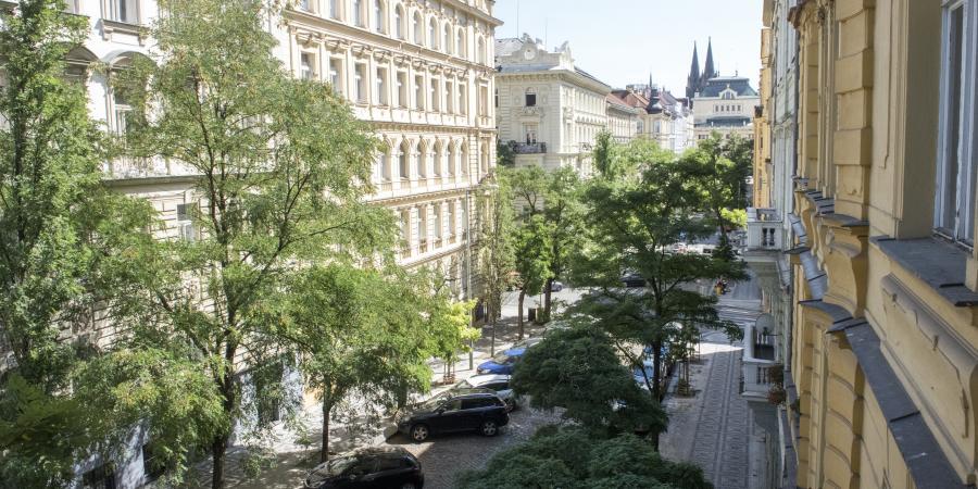Ulice Anny Letenské v Praze, na které probíhala měření